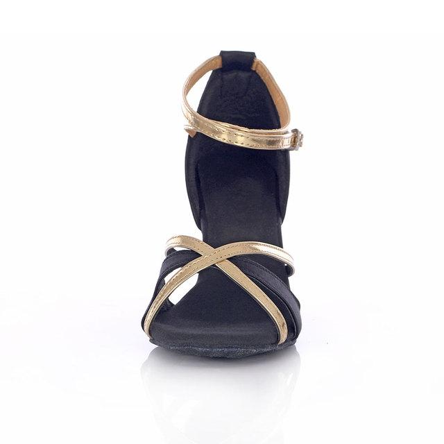 KULLA New Adult Ballroom Latin Dance Shoes Woman Tango Salsa Dancing Shoes For Women Female Ladies Black High-heeled Dance Shoes
