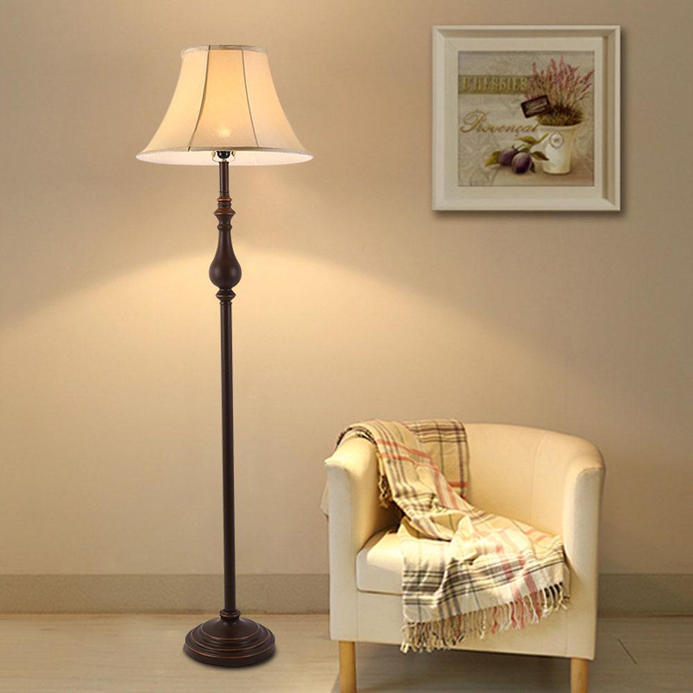 Nouveau plancher lampes vintage de luxe chambre à coucher design led ampoule lampe e27 110 v