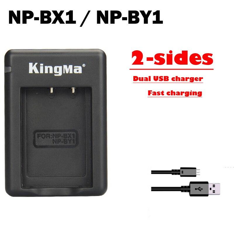 NP-BX1 NP BX1 NP-BY1 NPBY1 BY1 2-sides Dual USB Mini Camera battery charger For Sony HDR-AS100v HDR-AZ1 AZ1VR AZ1VB AZ1VW