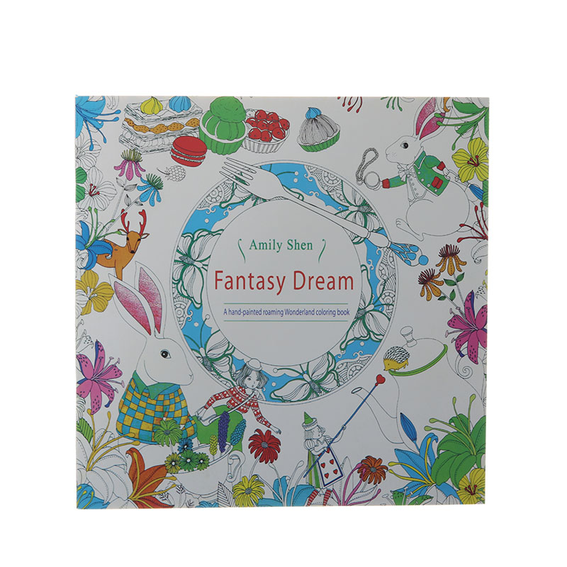 24 Page Fantasy Dream Painting Books Adult Decompression Hand-Painted Graffiti Books Children'S Stationery Office Supplies 1pc