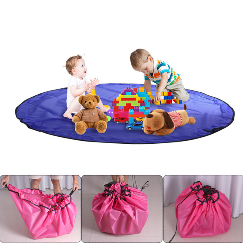 50cm/ 150cm Portable Kids Baby Play Mat Toy Large Storage Bag Organizer Blanket Rug Boxes For Lego Toys Organizer Bin Box