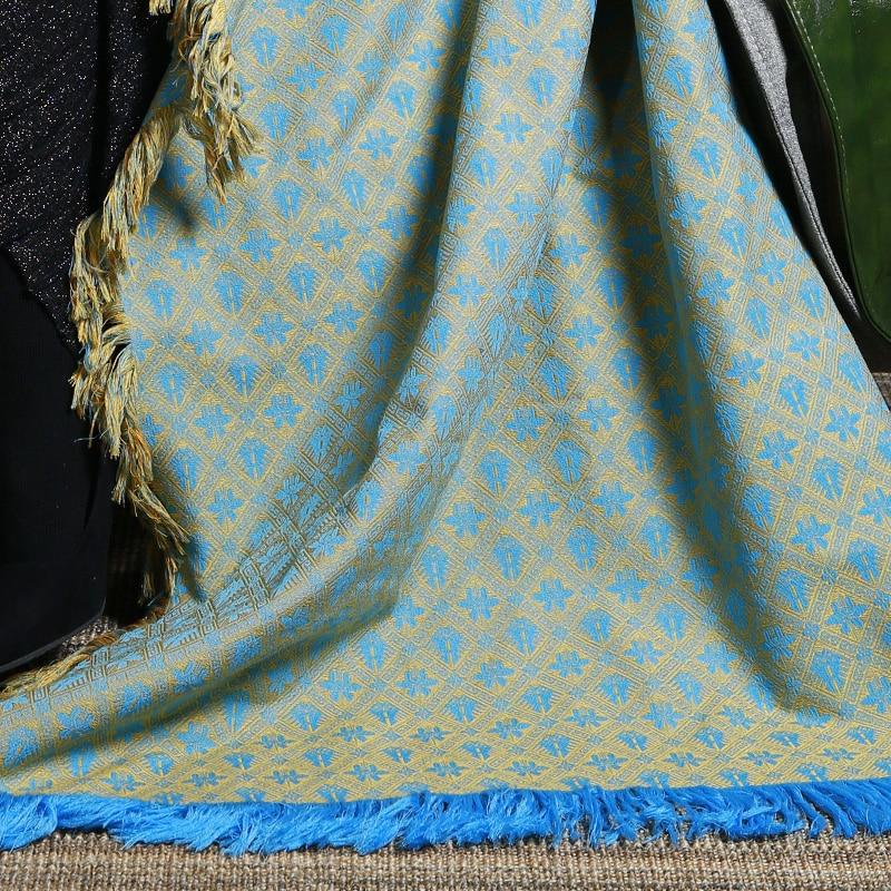 MENOGGA Sjaals en Wraps Grote Vierkante Sjaal 145*145cm Chinese Stijl Klassieke Patroon met Kwastje Warm Winter Sjaal deken - 5