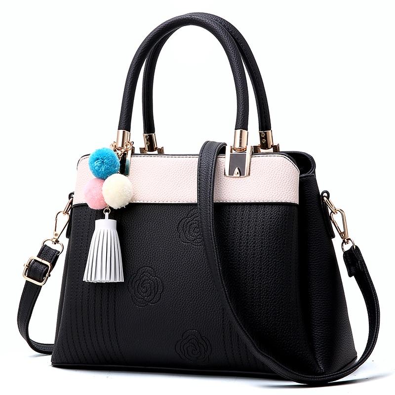 цены Tethys Women Bag Leather Quality Handbag Casual Tote Lady Shoulder Bags Female Brand Tassel Messenger Bags Original Design Sac
