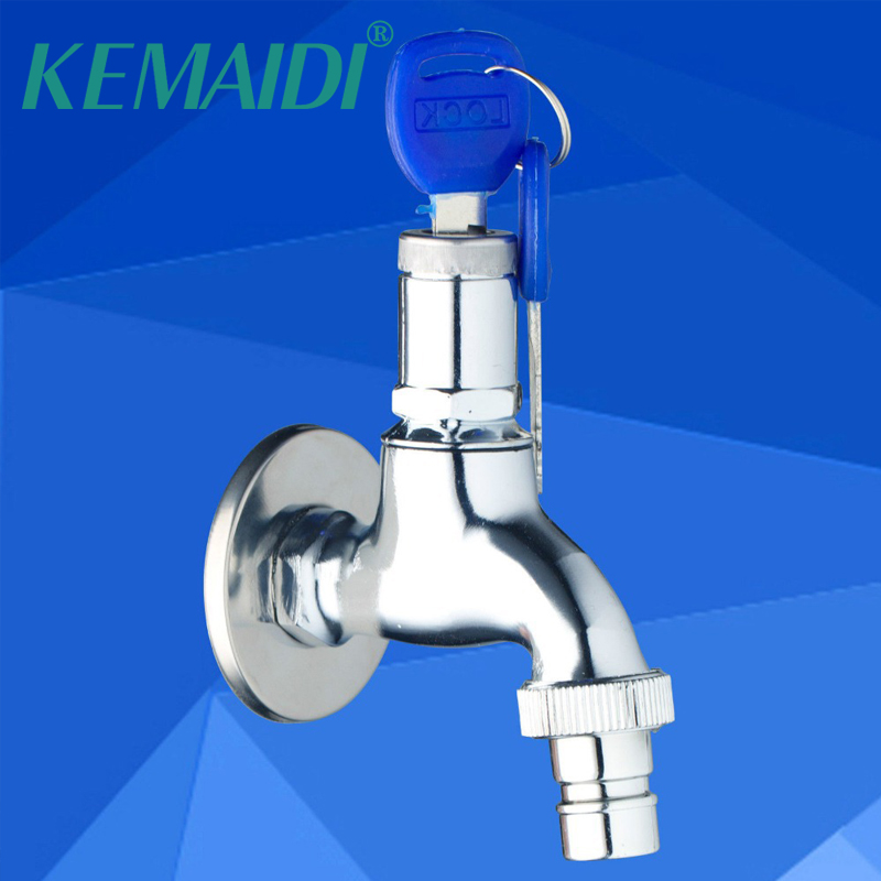 Shower Equipment Kemaidi Single Cold Wall Mounted Washing Machine Bathroom Key Lock Switch Chrome 2013 Basin Sink Torneira Faucets Taps