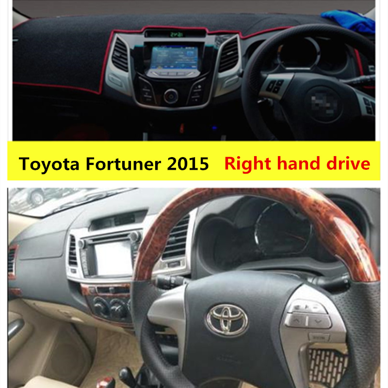 Taijs Car Dashboard Cover For Toyota Fortuner 2015 Right