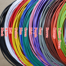 UL1015 18AWG OD 2.8mm Environmental Electronic Wire Internal Wiring VW-1 10 Colors Selectable