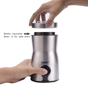 Image 4 - מיני חשמלי קפה מטחנת יצרנית מטבח מלח פלפל מטחנת תבלינים זרעי אגוז קפה שעועית טחנת עשבי תיבול אגוזי 220V Sonifer