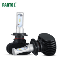 Partol S1 H7 Car LED Headlight Bulbs 50W 8000LM CSP Chips LED Headlights All In One