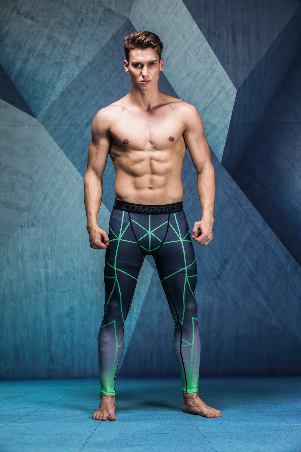 Mans Tight Skin Compression Pants MMA Trousers for Muscle Mens Casual Pants