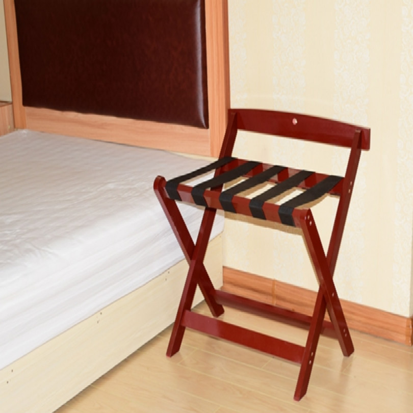 Купить с кэшбэком hotel wood luggage holder luggage bracket luggage rack folding free shipping