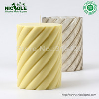 Cheap Price Handmade Plastic Premium PVC Spiral Eged Cylinder Shaped Plastic Candle Molds