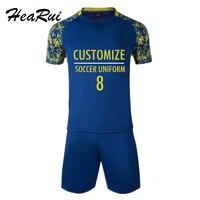 2017 Professional Customize Adult Kids Soccer Jerseys Uniforms Kids Shirt Tracksuit Breathable Soccer Set Football Team