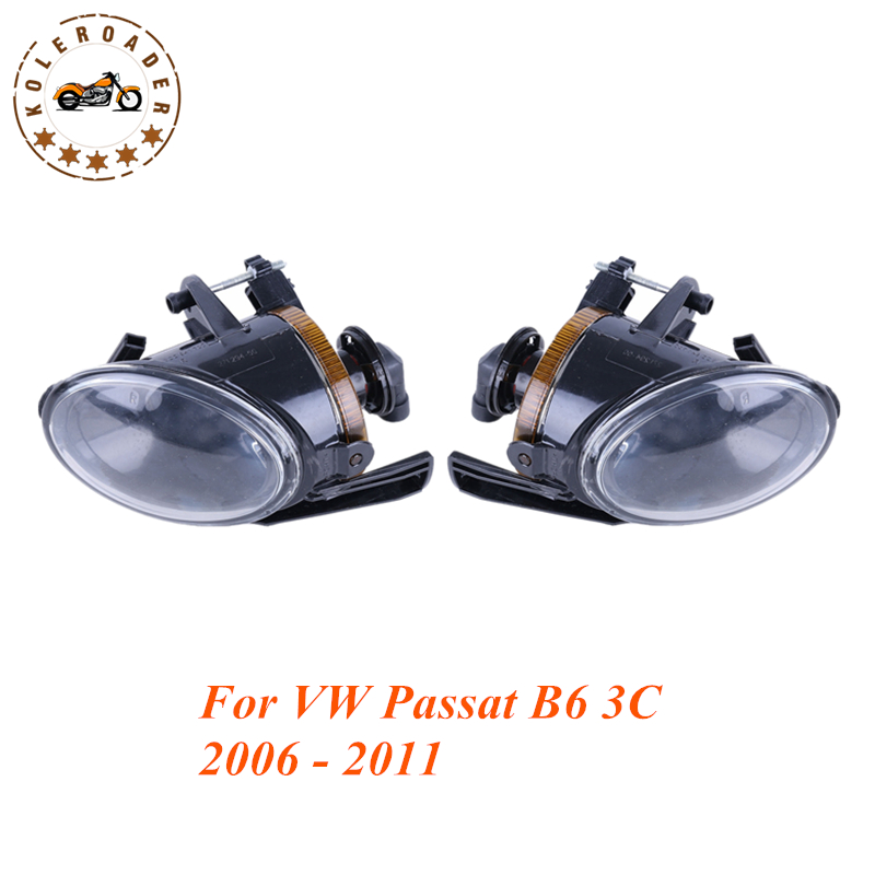 Front Bumper Fog Light with 12V 55W 9006 Bulbs For VW Passat B6 3C 2006 - 2011 Left + Right OEM 3C0941699B /700B #992 free shipping for vw polo 2005 2006 2007 2008 new front left side halogen fog light fog light with bulb