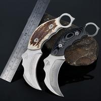 Mengoing Hochwertigen Falzmesser Messer AUS-8A Stahl 59HRC Hohe Härte Karambit Selbstverteidigung Klaue Messer Werkzeug & ABS mantel