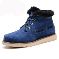 2017 Brand Fashion Waterproof Winter Genuine Leather Men Snow Boots Shoes For Men Casual Shoes Warm