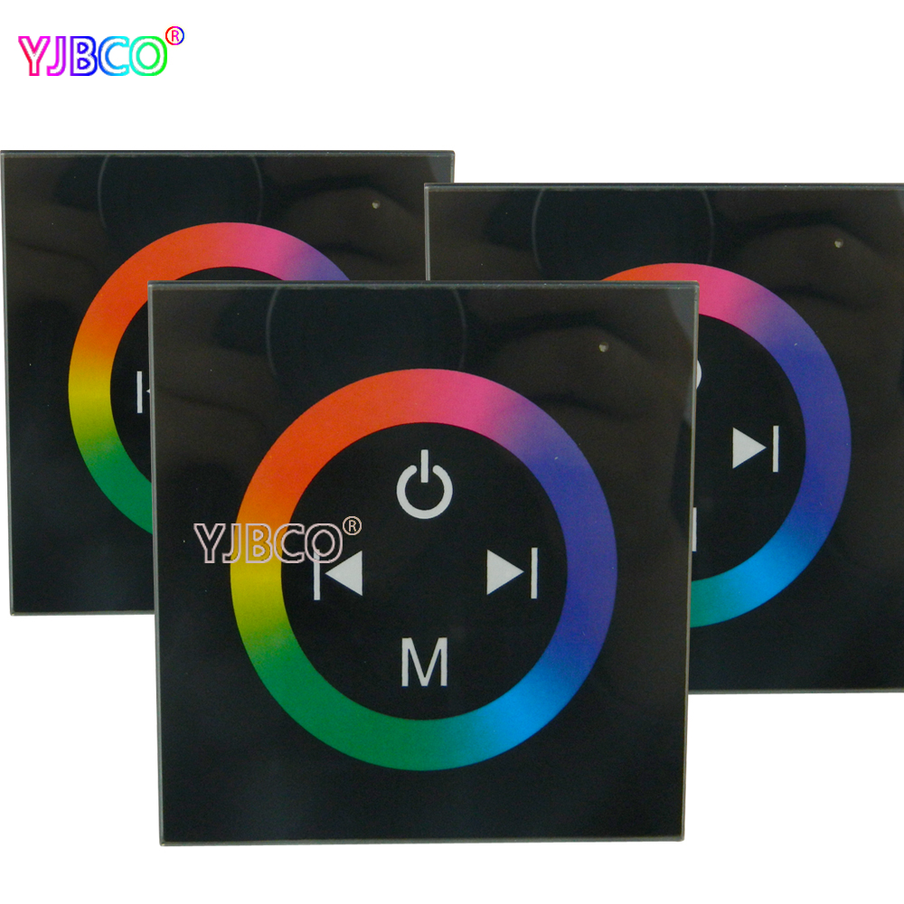 Wall Type touch panel RGB led Touch Panel Controller for LED 3528 5050 RGB led strip led panel lights,DC12-24V dc12v 24v wall type touch brightness led panel dimmer for 3528 5050 2835 single color led strip tape led module free shipping