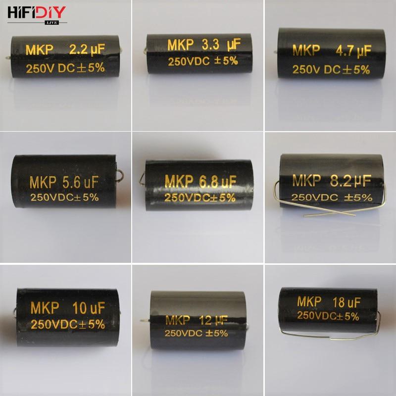 HIFIDIY LIVE Propathene MKP Capacitor Non-polar Frequency Divider Capacitor AUDIO Nourishments 2.2uf3.3 4.7 5.6 6.8 8.2 10 12 18