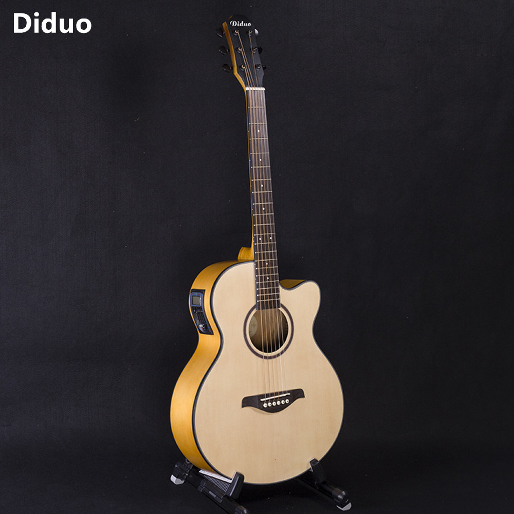 DIDUO 40 Inch High Quality Acoustic Folk Guitar With Five Segment Equilibrium EQ Guitarra Closed Knob Initiative Adapterization diduo 40 inch 41 acoustic guitar beginner entry student male and female instrument wound guitarra