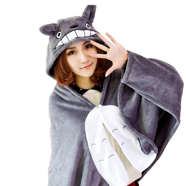 Totoro Mantissas Cape Lounged Blanket