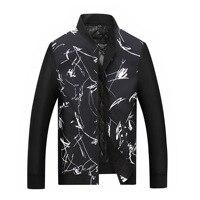 8XL 7XL 6XL 5XL men plus size new Stand Collar Male Parka Jacket Coat Mens print Thick Jackets and Coats Man Winter Parkas
