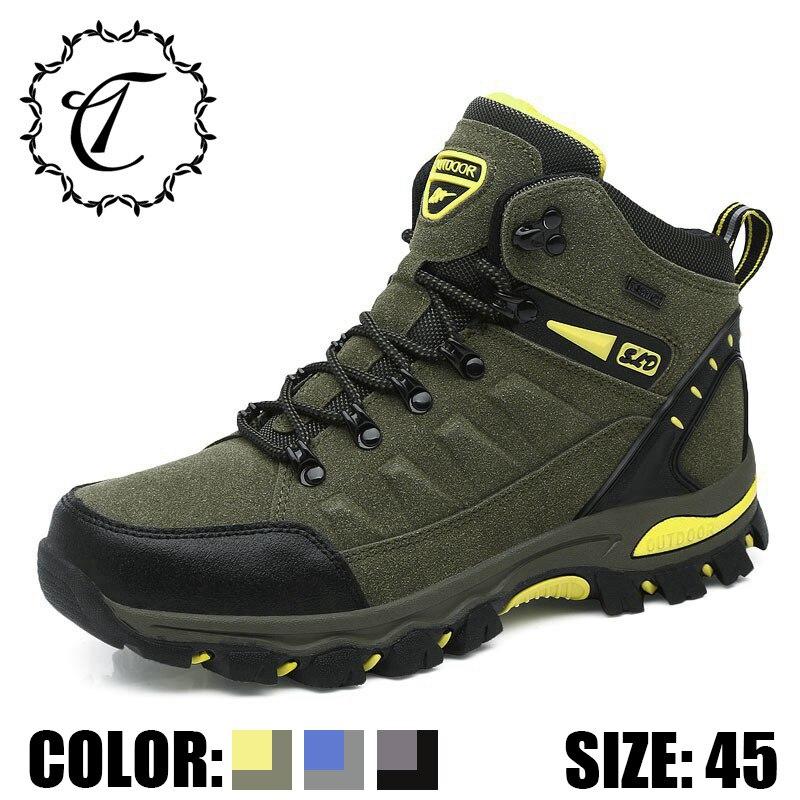 759f1a61d118c3 Travail Militaires Neige Qualité Imperméable Mâle Chaussures Gris green  Black High Designer Mode Pour D'hiver À Bottes Hommes ...