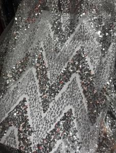 Image 5 - fashionable african Lace Fabric for sexy dress Nigerian Lace Fabric JIANXI.C 63426 with glued glitter
