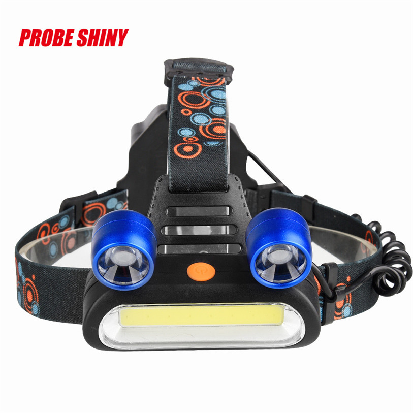 15000LM 2x XM-L T6 LED +COB Rechargeable 18650 Headlamp Head Light Torch  Lamp Outdoor Bicycle Bike Cycling Accessories Oct 11 950lm 3 mode white bicycle headlamp w cree xm l t6 black silver 2 x 18650