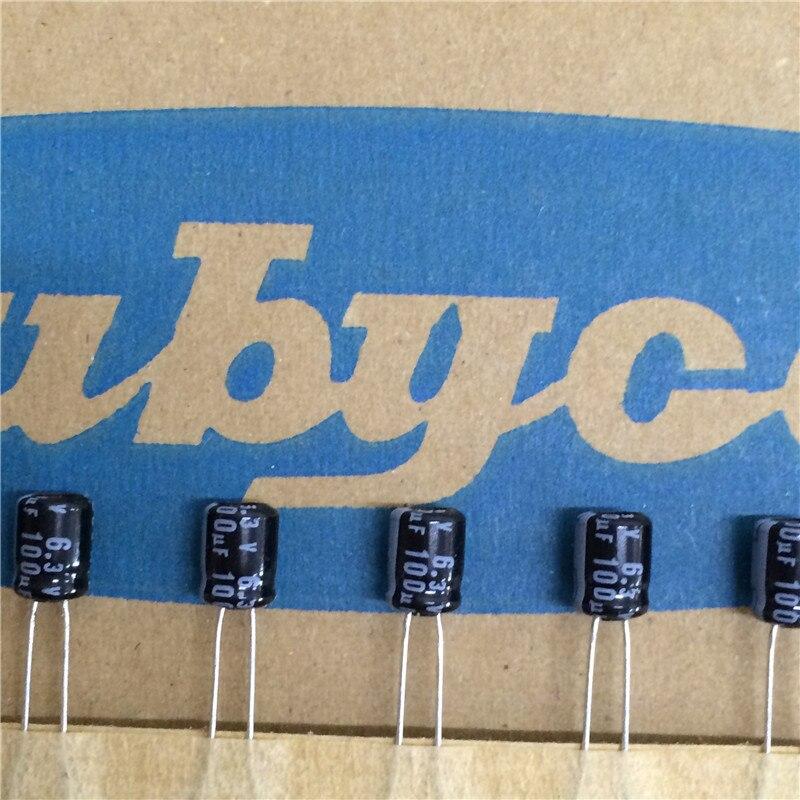 100pcs 100uF 6.3V RUBYCON MS7 Series 5x7mm 6.3V100uF Aluminum Electrolytic Capacitor