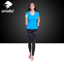 Ariella 2 Pieces/Set ( Skirt Pants + Shirt ) Women Yoga Sets for Running Gym Sportwear Elastic Professional Fitness Sport Suits