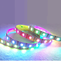 WS2813 1m/5m led strip DC5V WS2812b upgraded version built in WS2811S IC 5050 SMD RGB strip,individually addressable,IP30/IP67