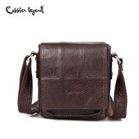 Cobbler Legend Famous Brand Business Men Messenger Bags Designer Genuine Leather Man Bag Flap Casual Handbags Men Leather