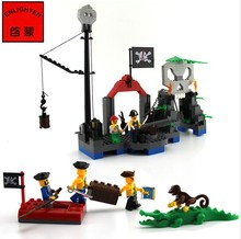 Enlighten 309 Pirate Skeleton Kiosk Marsh Crocodile Minifigure 2016 Assemble Building Block   Toys