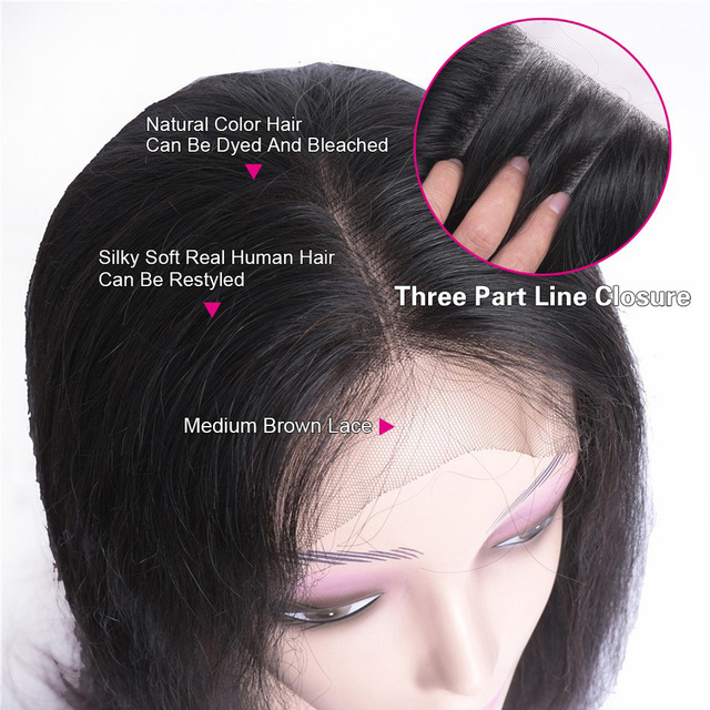 Brazilian Remy Straight Lace Front Human Hair Wigs