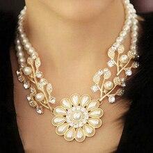 ZOSHI, Новое поступление, модное массивное роскошное ожерелье с подвеской из искусственного жемчуга, Золотое колье, массивное ювелирное изделие для женщин