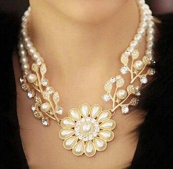 bubble simulated pearl pendant