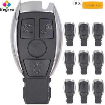 KEYECU 10PCS/Lot KYDZ Smart Remote Car Key - 315MHz/ 433MHz & 3 Buttons - FOB for Mercedes BENZ 2000+ Support NEC & BGA Keyless