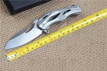 Механическая Полые Складной Нож Карманный Нож 8CR18MOV Стали Щеткой Закончить Тактический Охотничий Нож Металлообработка Инструменты