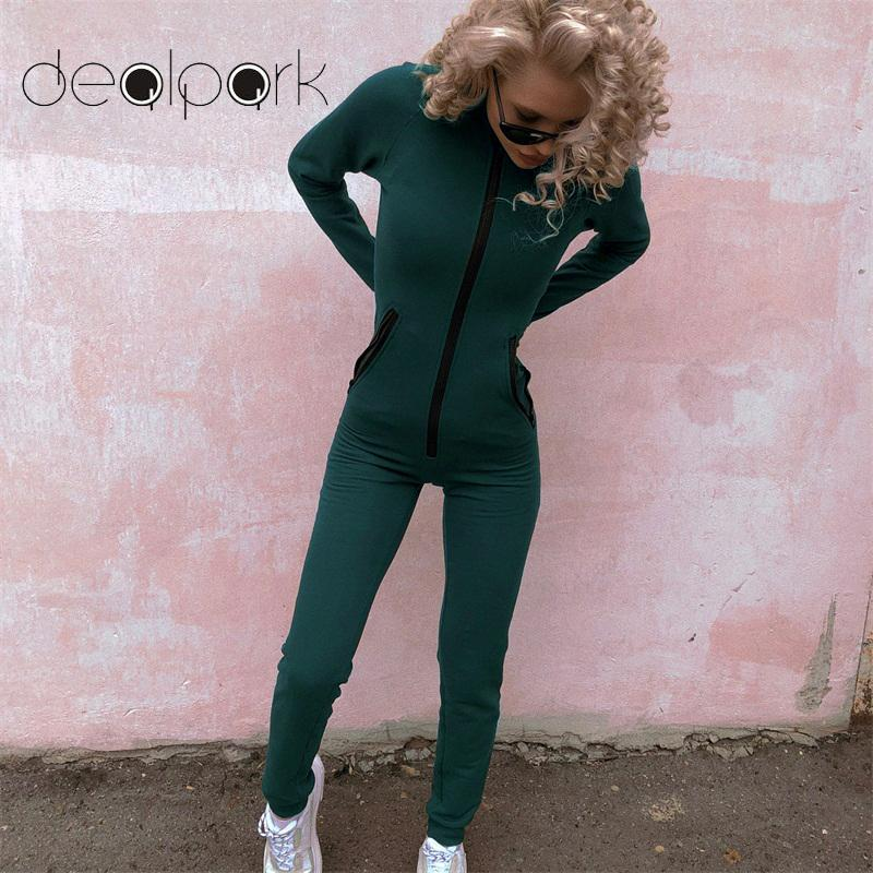 Women Long Sleeve All In One 1Onesie Hooded Hoody ZipUp Ladies Jumpsuit Dungaree