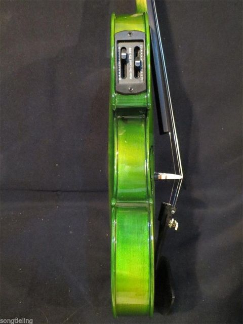 Green Acoustic & Electric Violin 5
