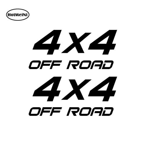 HotMeiNi 2X 4X4 OFF ROAD Suv Interesting Vinyl Decals Car Sticker Car-styling For Window Bumper Laptop Black/Silver 16*16.4cm image