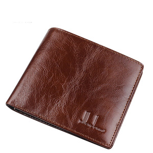 Image 3 - Short Wallets Men Ultra Thin Wallet Genuine Leather Purse Vintage Solid Purses Mens Slim Card Bags High Quality Free Shipping
