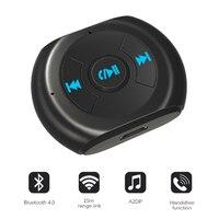 Nova A2DP 3.5mm Jack Bluetooth Car Kit Sem Fio Bluetooth Car 4.0 AUX Adaptador de Áudio Receptor de Música com Microfone para Celular telefone