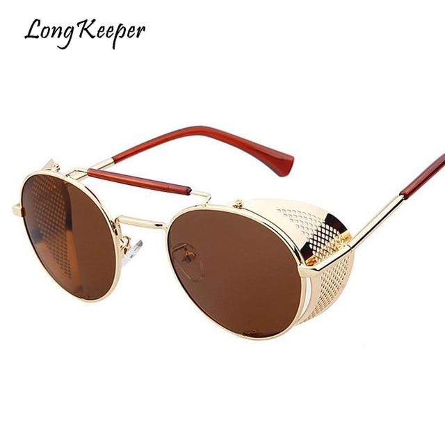 c7c9b23ae7 Long gafas de hombres mujeres Steampunk Gafas de Sol para conducir Gafas de  metal unisex de