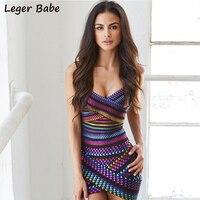 Leger Babe Fashion Cheap Wholesale Sleeveless Mini Women Outlet Blue Asymmetrical Hem Plunge Strap Purple Jacquard Bandage Dress
