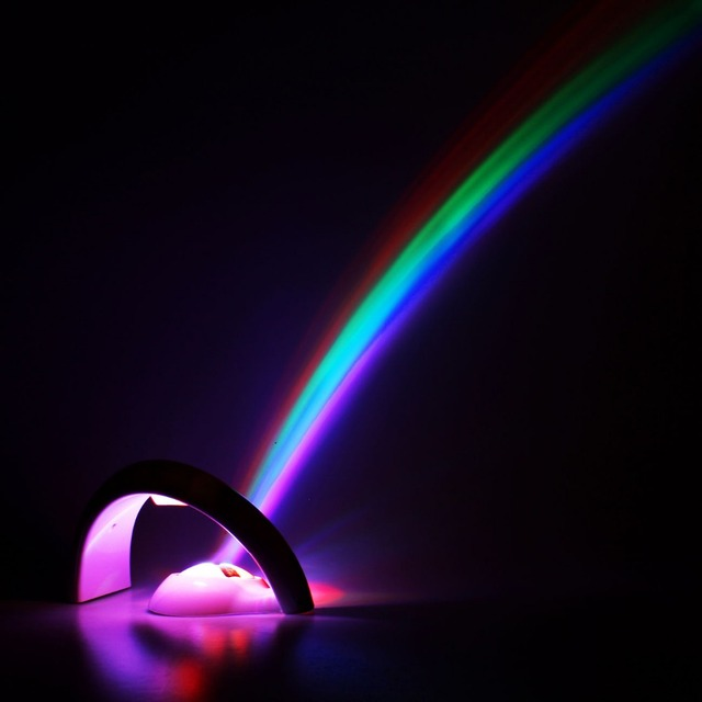 Led Lights Rainbow: LED Lucky Rainbow Projector Room Night Light Color Lamp