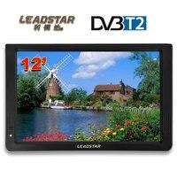 HD Портативный ТВ 12 дюймов цифровой и аналоговый Led телевизоров Поддержка TF карты USB аудио автомобиля телевидении HDMI Вход DVB-T DVB-T2 AC3