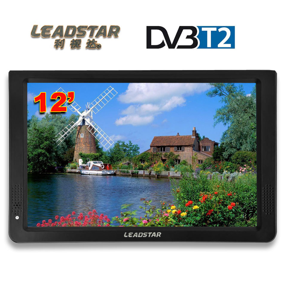 HD Portable TV 12 Inch Digital And Analog Led Televisions Support TF Card USB Audio Car Television HDMI Input DVB-T DVB-T2 AC3 hot digital car tv tuner dvb t2 car tv receiver hdmi 1080p cvbs dvb t2 support h 264 mpeg4 hd tv receiver for car free shipping