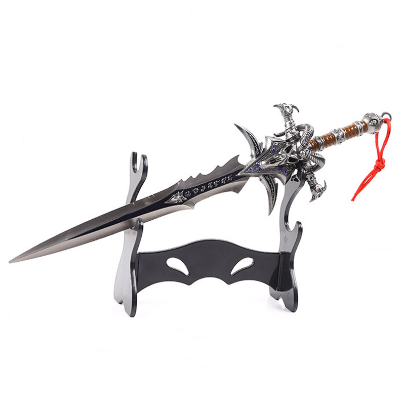 WOW Arthas Menethil Sword Frostmourne Alloy Casting Cool Craft Be A Gift Adult Toys 30cm