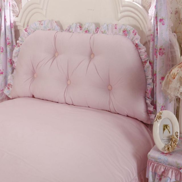 FREE SHIPPING! Princess rustic 100% cotton big bedside bed backrest cushion big cushion kaozhen pillow