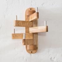 Wooden hanger hanging wall rotation cloak a clothes hanger(A361)